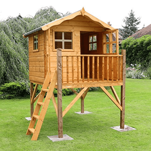 playhouse on raised stilts