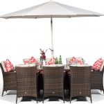 Outdoor Poly Rattan Garden Table & Chairs Set |