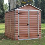 Palram 6 x 8 plastic shed amber colour very strong