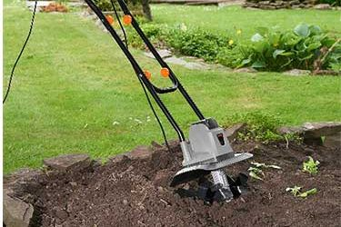 What tool do you use to turn soil?