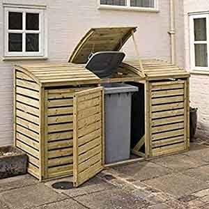 OutdoorTriple Bin Store